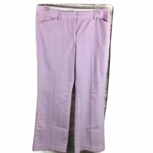 Express Editor Light Pink Embroidered Patter Pants